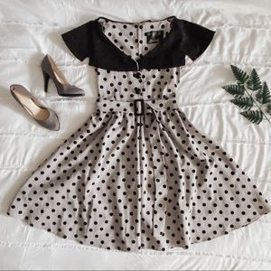 COLLECTIF Vintage-inspired '50s Polkadot D…